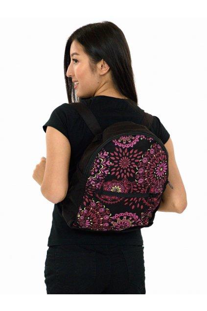 Batoh Molokai - černá s růžovou