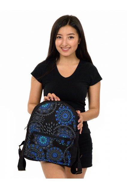 Batoh Molokai - černá s modrou