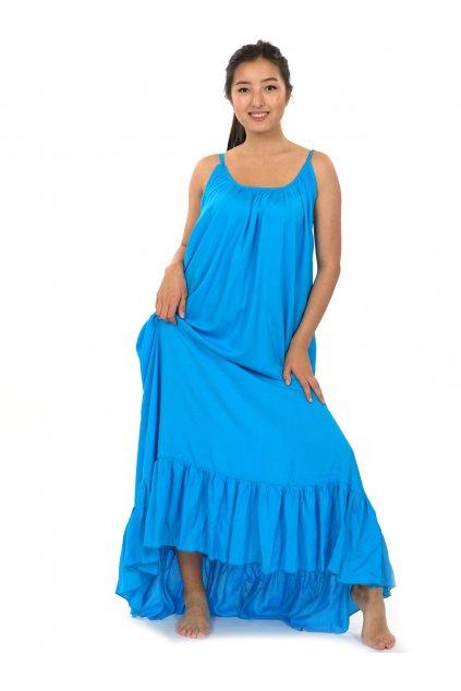 Vzdušné maxi šaty Monoi - modrá