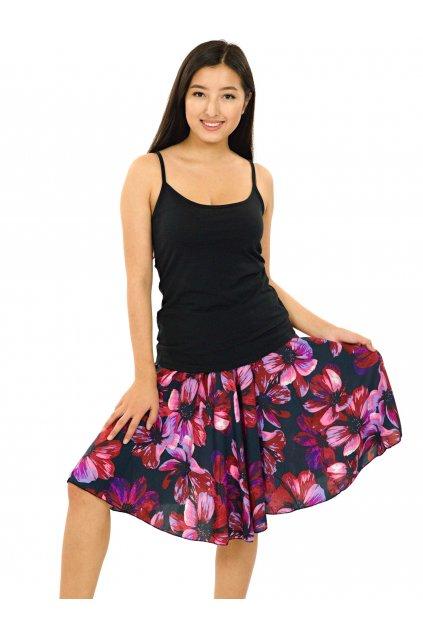 Kolová sukně Tiaré - růžová s fialovou