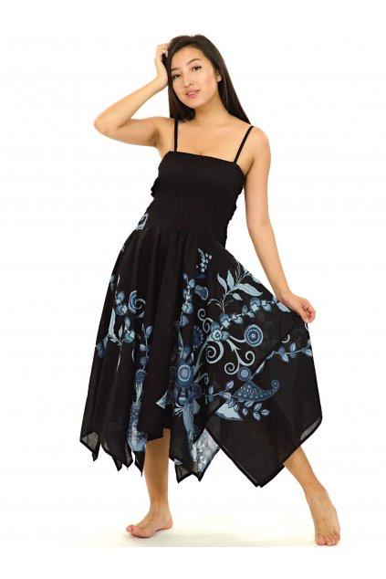 Šaty-sukně 2v1 Dawa Garden - černé s šedou