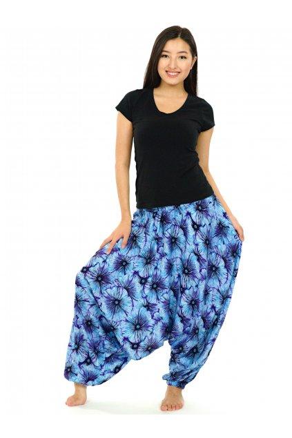 Kalhoty-šaty-top 3v1 Lanai - tyrkysové s modrou