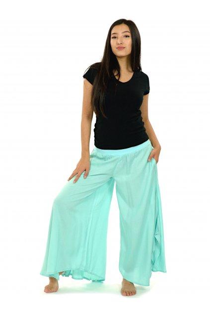 Široké kalhoty Plain - mintová