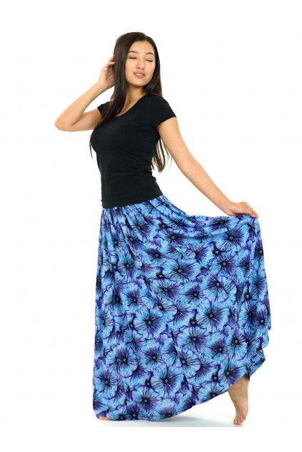Maxi sukně Lanai s kapsami - tyrkysová