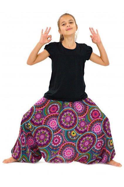 Dětské kalhoty-šaty-top 3v1 Tehani - barevné