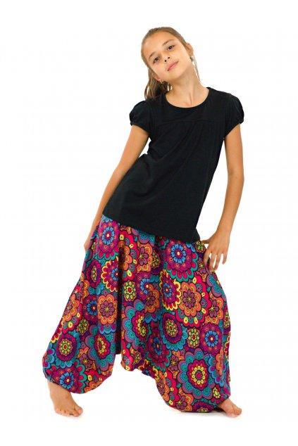 Dětské kalhoty-šaty-top 3v1 Makani - barevné