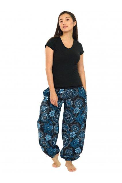 Kalhoty Hooki - černá s modrou
