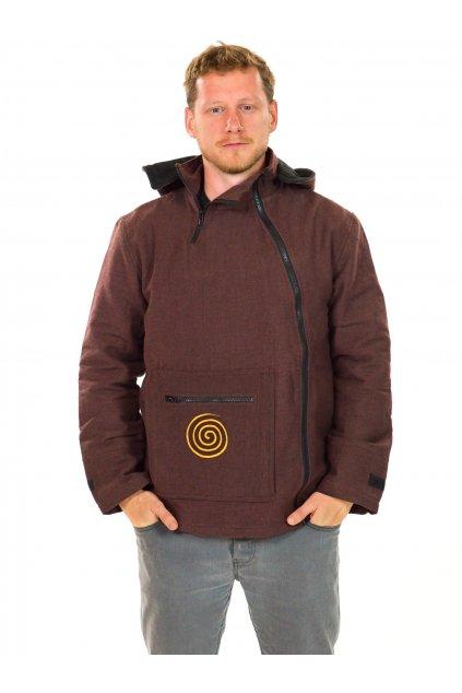 Zateplená bunda Tenzin - hnědá