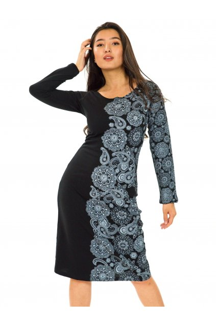 Šaty Matira - černá s bílou