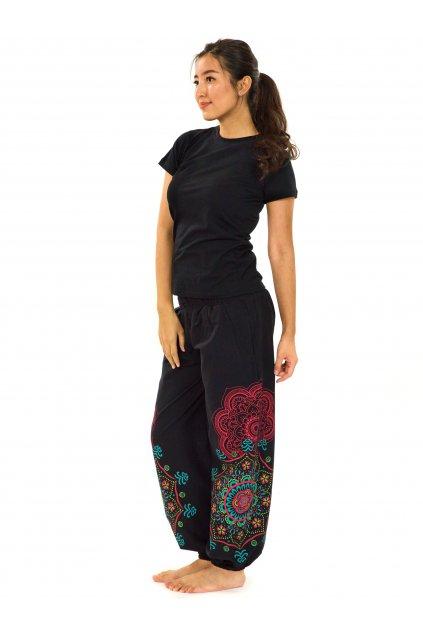 Kalhoty Makaha - černá s barvami