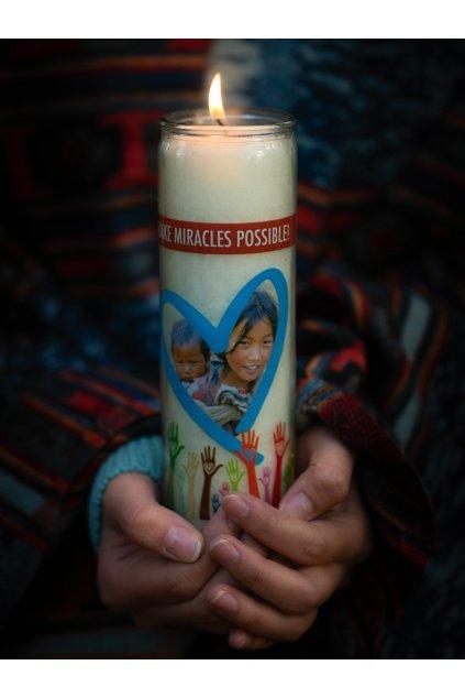 Sponzorská svíčka Dobrá Karma - velká