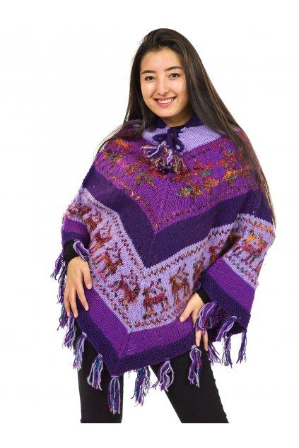 Pletené vlněné pončo Lalita 10