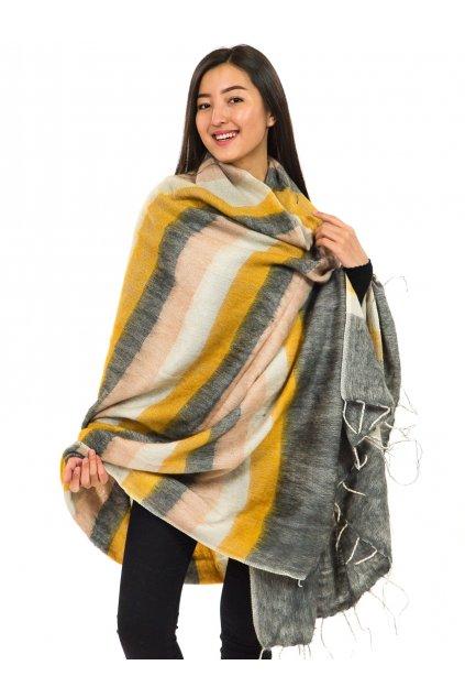 Deka/pléd Yak wool Nepal 47
