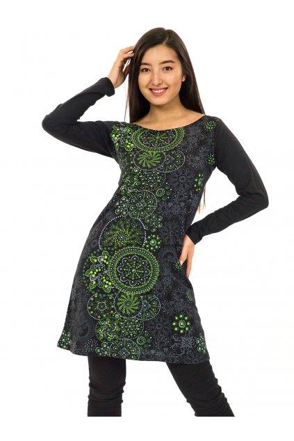 Tunika Keola - černá se zelenou