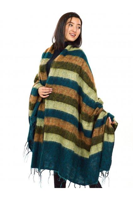 Deka/pléd Yak wool Nepal 52