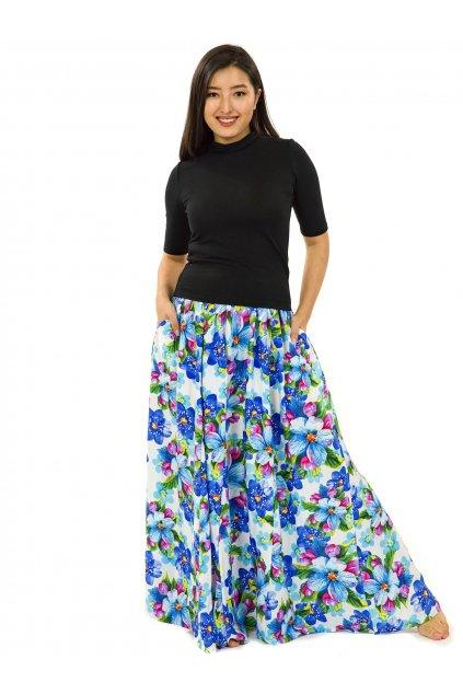 Maxi sukně Puena s kapsami - bílá