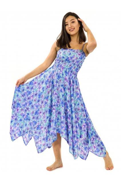 Šaty-sukně 2v1 Dawa Rotuma - tyrkysová s fialovou
