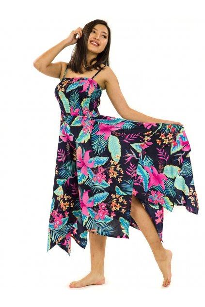Šaty-sukně 2v1 Dawa Kihei - černá