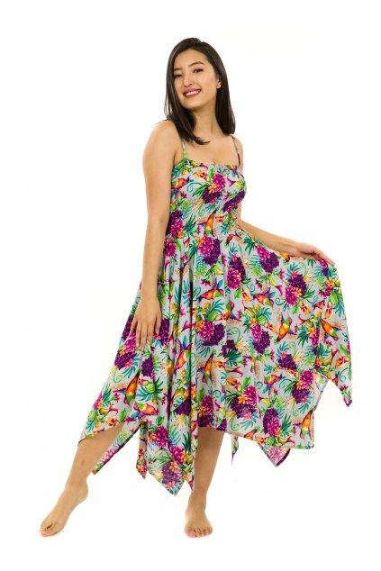 Šaty-sukně 2v1 Dawa Tahanea - šedá