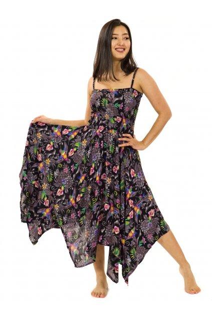 Šaty-sukně 2v1 Dawa Tahanea - černá
