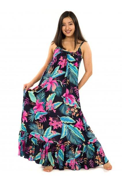 Vzdušné maxi šaty Kihei - černá