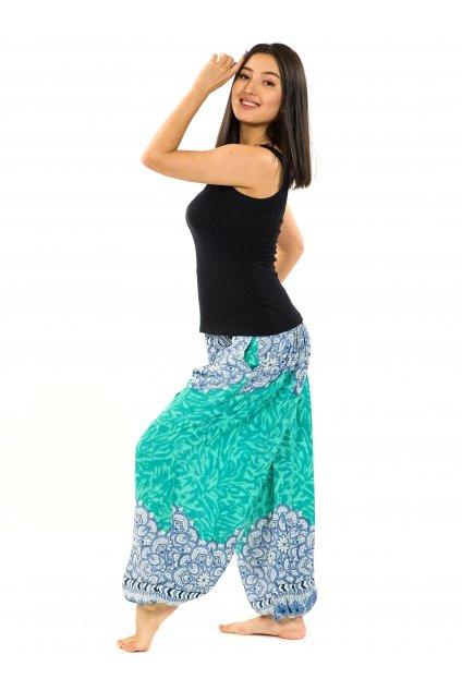 Kalhoty Tiaki - tyrkysové