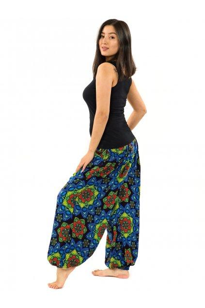 Kalhoty Puri - černá s modrou