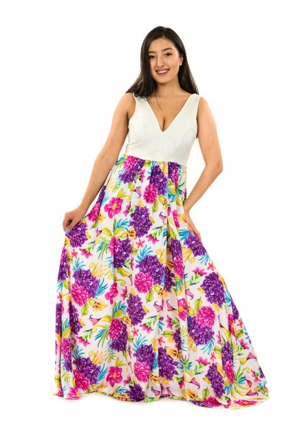 Dlouhé maxi šaty Matea - bílé
