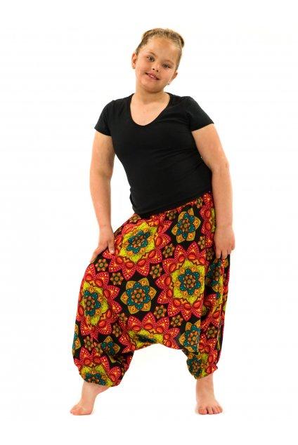 Dětské kalhoty-šaty-top 3v1 Puri - černá s oranžovou