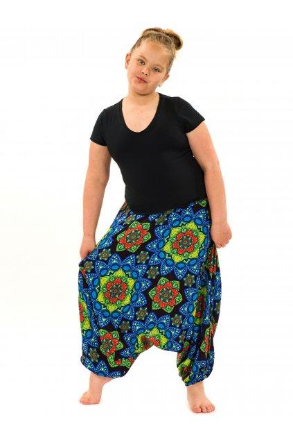 Dětské kalhoty-šaty-top 3v1 Puri - černá s modrou