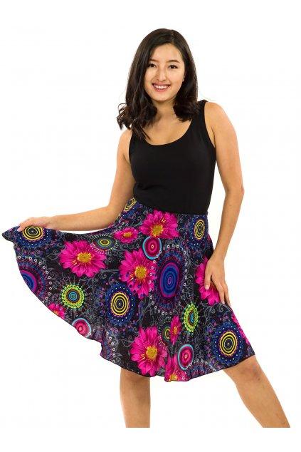 Kolová sukně Elara - černá