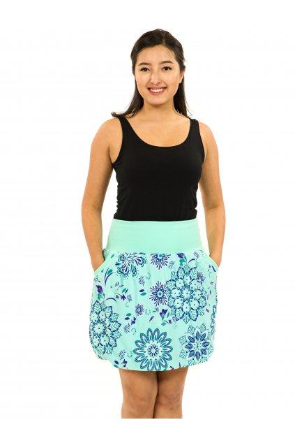 Balonová sukně Madia - tyrkysová