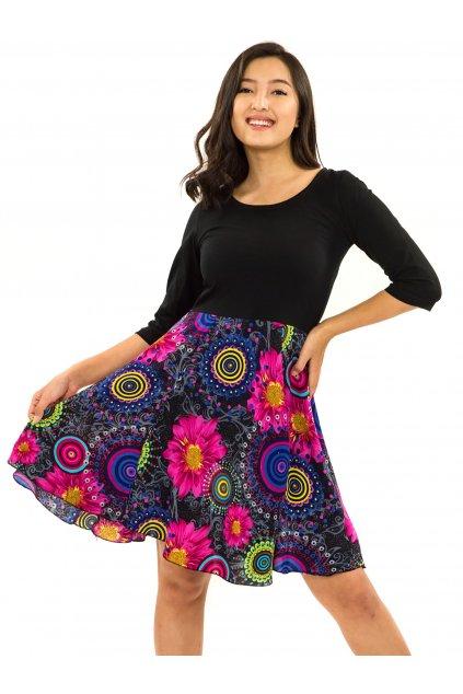 Šaty s 3/4 rukávem Elara - černá