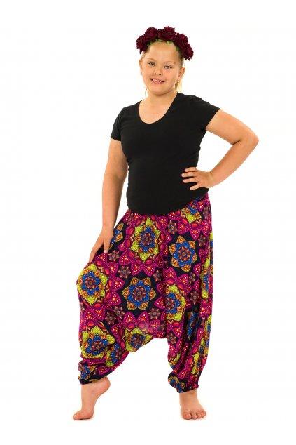 Dětské kalhoty-šaty-top 3v1 Puri - černá s růžovou