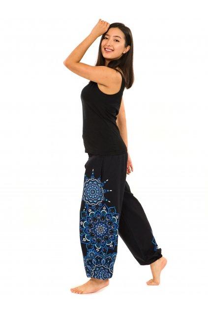 Kalhoty Damsa - černá s modrou