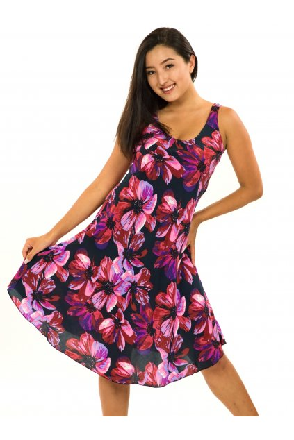 Šaty Ava Tiaré - růžová s fialovou