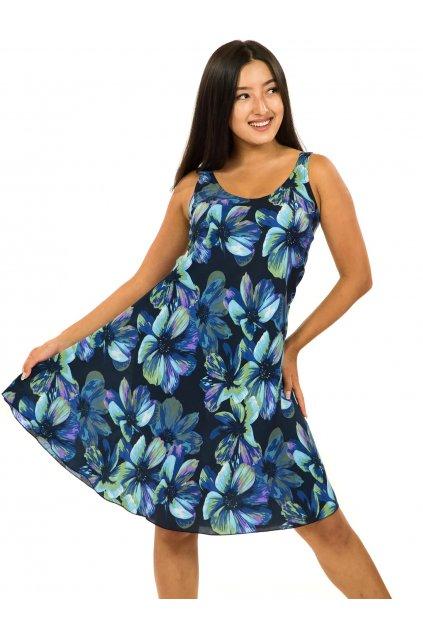 Šaty Ava Tiaré - tyrkysová s modrou