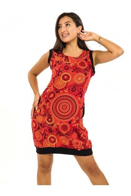 Šaty Flowee - červená s černou