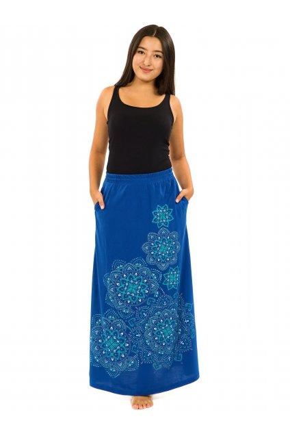 Dlouhá sukně Khana - modrá