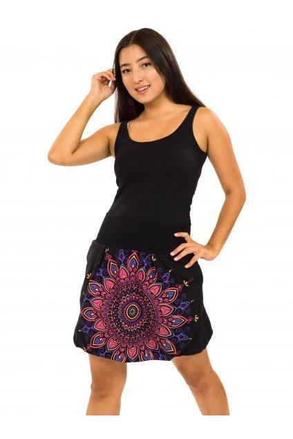 Balonová sukně Mokulea - černá s růžovou
