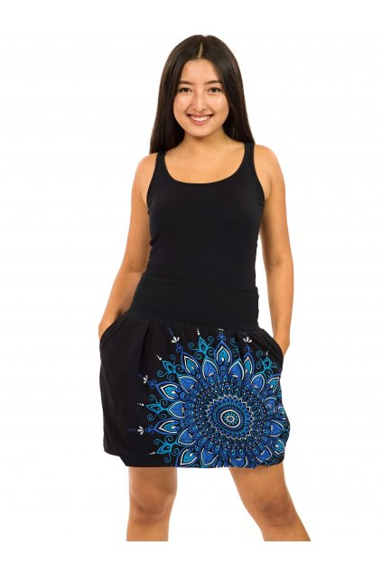 Balonová sukně Mokulea - černá s modrou