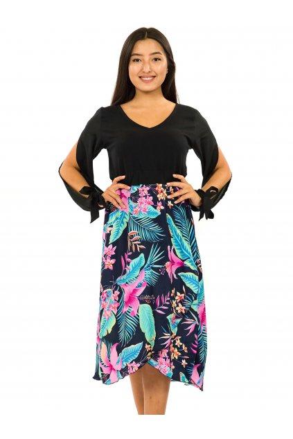 Midi šaty Kihei - černá