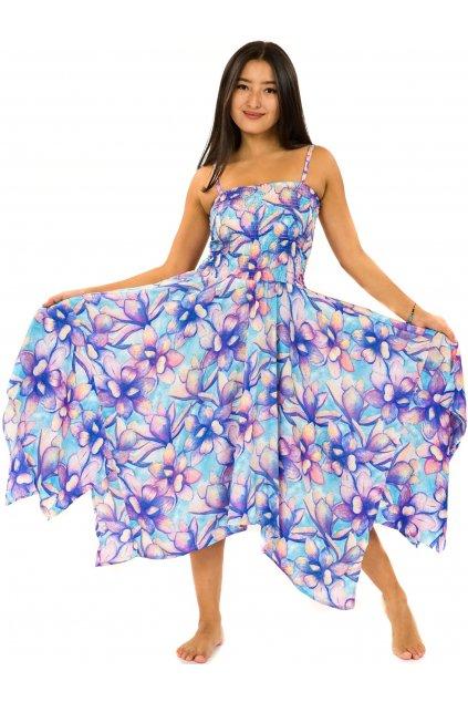 Šaty-sukně 2v1 Dawa Nala - tyrkysová s fialovou