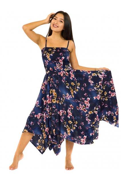 Šaty-sukně 2v1 Dawa Soha - tmavě modrá