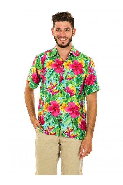 Pánská košile Launa - tyrkysová s barvami