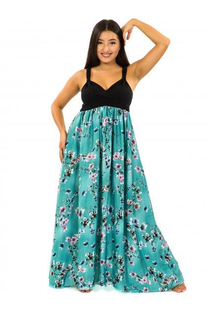 Dlouhé šaty Soha - tyrkysová