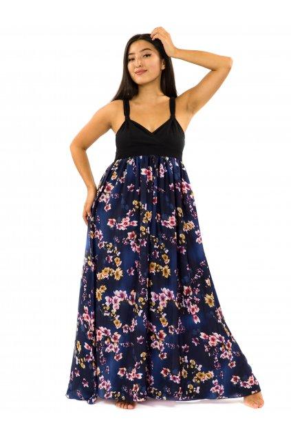 Dlouhé šaty Soha - tmavě modrá