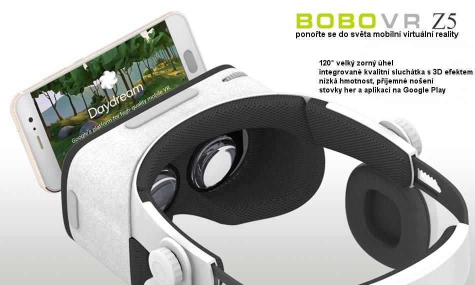 3D VIRTUÁLNÍ BRÝLE BOBOVR Z5