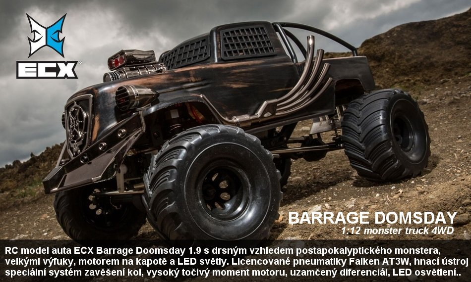 ECX BARRAGE DOOMSDAY BD 1.9 4WD RTR 1:10