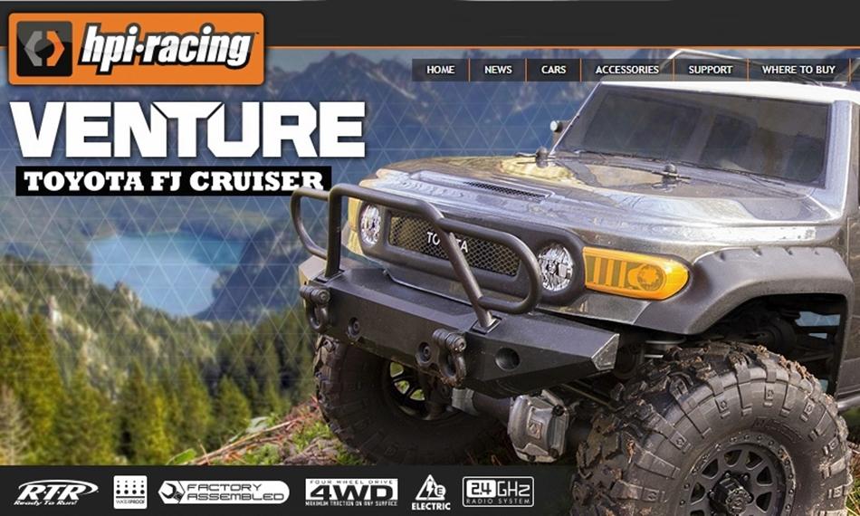 HPI VENTURE TOYOTA FJ CRUISER 4WD RTR 1:10 HPI116558